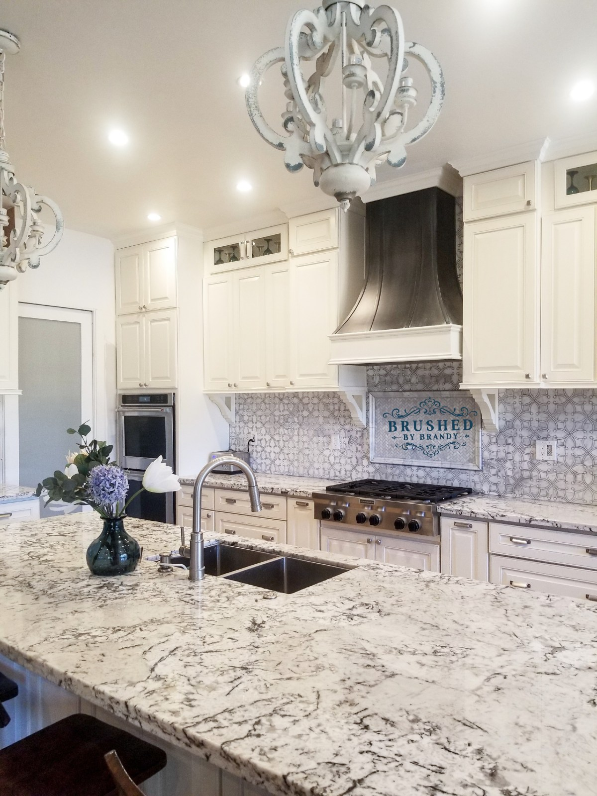 Complete Full Kitchen Remodel with DIY Painted Range Hood