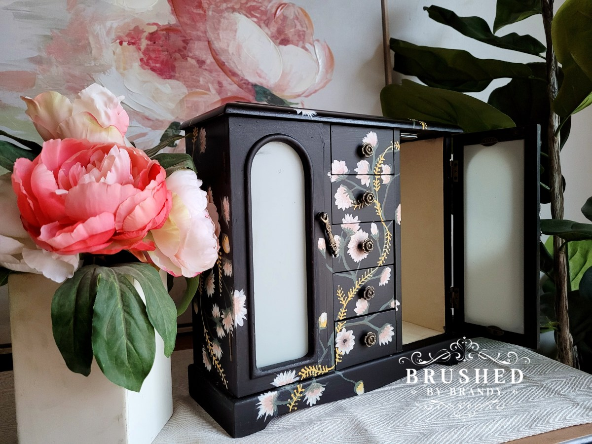 Hand Painted Floral Jewelry Box How to Brushed by Brandy