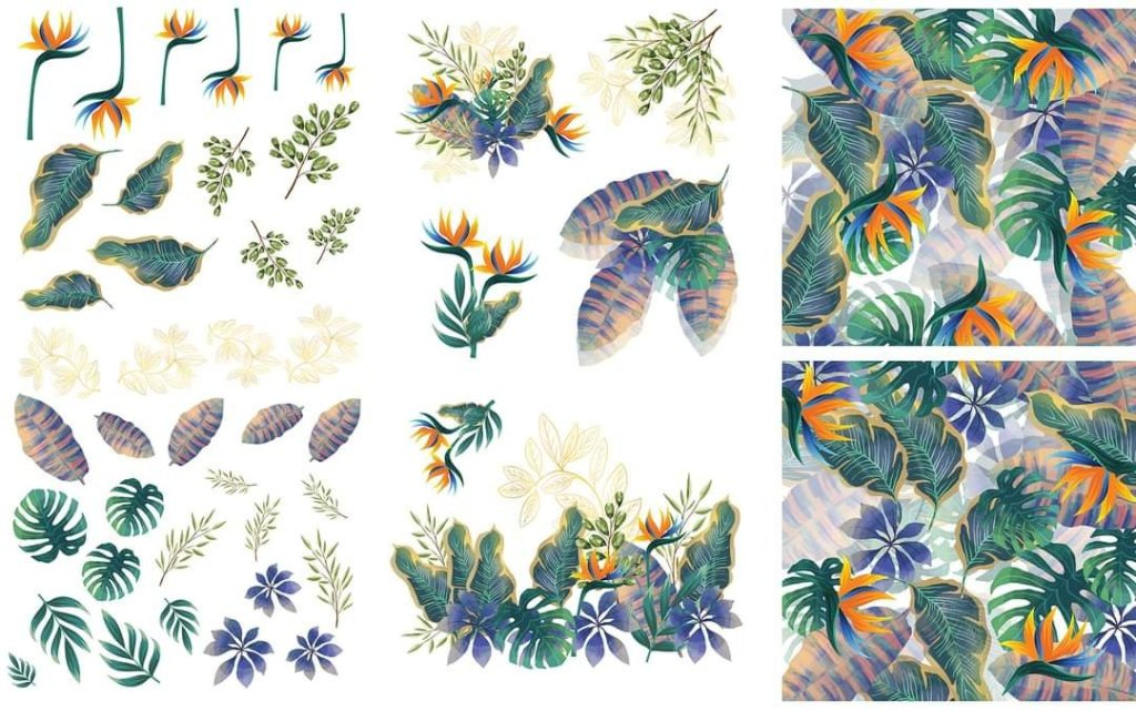 Tropical Leaves Dixie Belle Furniture Transfer