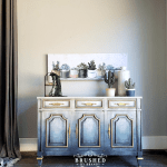 Faded Blue Jeans Painted Furniture Finish