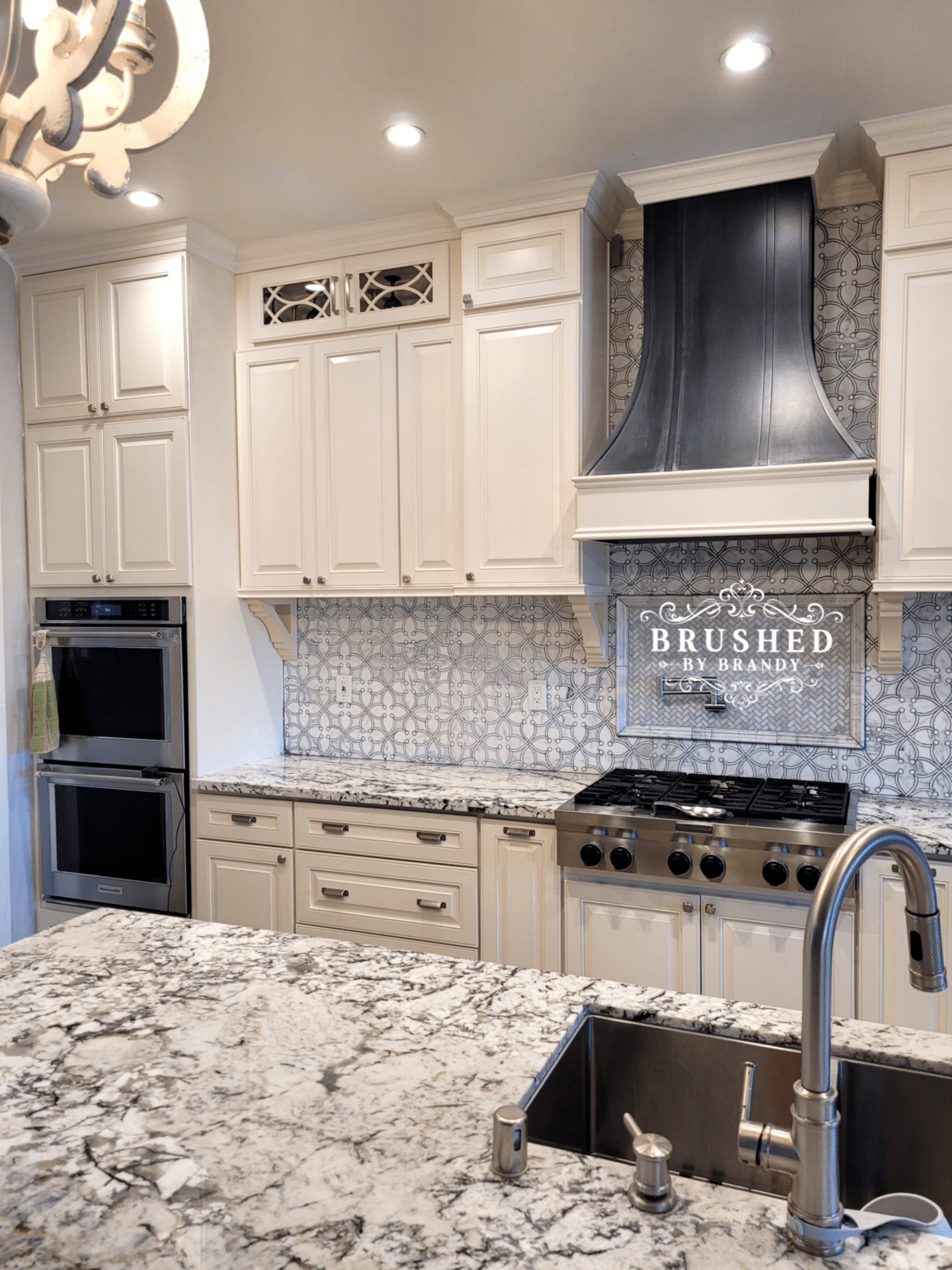 Upgrade Glass Kitchen Cabinet with PVC Fretwork Brushed by Brandy