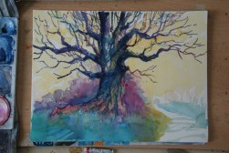 Step-by-step: Painting a colorful tree 03