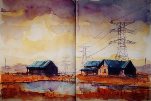 217_2016 Watercolor-Sketches /Daler-Rowney Graduate Sketchbook, 2x 21,0 x 14,9 cm / 8.3 x 5.8 in