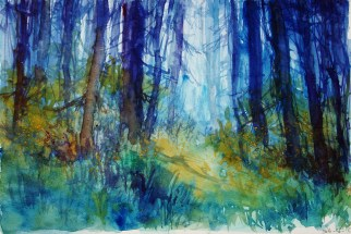 233_2016 Watercolor-Sketches / Paper: Marabu Mixed Media 21,0 x 14,8 cm / 8.3 x 5.8 in / Lukas Aquarell 1862 / ´Forest´