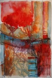 CW2016_abstract_watercolor002 / Daler-Rowney Graduate Sketchbook, 21,0 x 29,7 cm / 8.3 x 11.7 in / Lukas Aquarell 1862