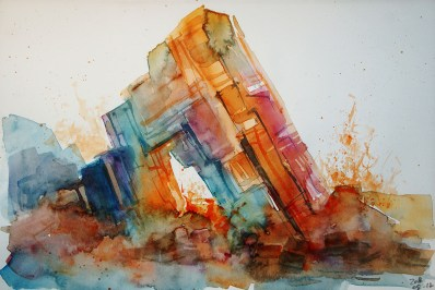 CW2016_abstract_watercolor003 / Daler-Rowney Graduate Sketchbook, 21,0 x 29,7 cm / 8.3 x 11.7 in / Lukas Aquarell 1862