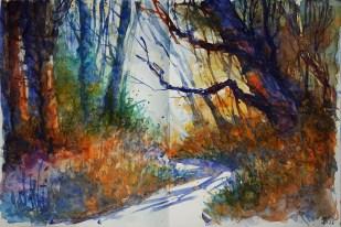 244_2016 Watercolor-Sketches /Daler-Rowney Graduate Sketchbook, 2x 21,0 x 29,7 cm / 8.3 x 11.7 in / Lukas Aquarell 1862