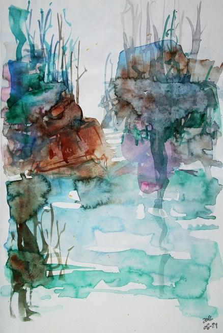 CW2016_abstract_watercolor018 / Daler-Rowney Graduate Sketchbook, 21,0 x 29,7 cm / 8.3 x 11.7 in / Lukas Aquarell 1862