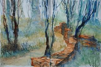 247_2016 Watercolor-Sketches /Daler-Rowney Graduate Sketchbook, 2x 21,0 x 29,7 cm / 8.3 x 11.7 in / Lukas Aquarell 1862
