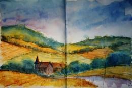 267_2016 Watercolor-Sketches /Daler-Rowney Graduate Sketchbook, 2x 21,0 x 14,9 cm / 8.3 x 5.8 in / Lukas Aquarell 1862
