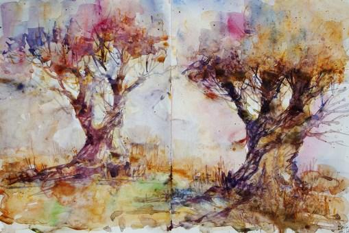 290_2016 Watercolor-Sketches /Daler-Rowney Graduate Sketchbook, 2x 21,0 x 14,9 cm / 8.3 x 5.8 in / Lukas Aquarell 1862