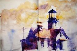 293_2016 Watercolor-Sketches /Daler-Rowney Graduate Sketchbook, 2x 21,0 x 14,9 cm / 8.3 x 5.8 in / Lukas Aquarell 1862