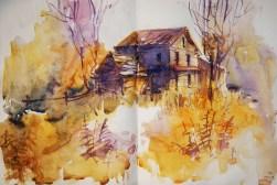 294_2016 Watercolor-Sketches /Daler-Rowney Graduate Sketchbook, 2x 21,0 x 14,9 cm / 8.3 x 5.8 in / Lukas Aquarell 1862