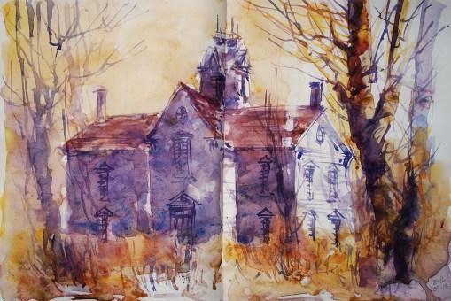 295_2016 Watercolor-Sketches /Daler-Rowney Graduate Sketchbook, 2x 21,0 x 14,9 cm / 8.3 x 5.8 in / Lukas Aquarell 1862