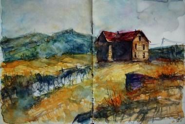300_2016 Watercolor-Sketches /Daler-Rowney Graduate Sketchbook, 2x 21,0 x 14,9 cm / 8.3 x 5.8 in / Lukas Aquarell 1862