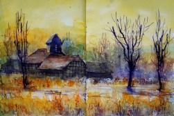 309_2016 Watercolor-Sketches /Daler-Rowney Graduate Sketchbook, 2x 21,0 x 14,9 cm / 8.3 x 5.8 in / Lukas Aquarell 1862