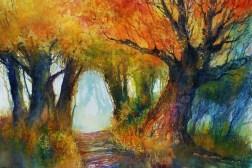227_2016 Watercolor / Fabriano artistico satinized – ca. 76 x 56 cm / 29.9 x 22.0 in / Lukas Aquarell 1862 ´Autumn shades´