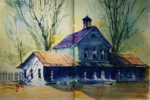 313_2016 Watercolor-Sketches /Daler-Rowney Graduate Sketchbook, 2x 21,0 x 14,9 cm / 8.3 x 5.8 in / Lukas Aquarell 1862