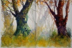 315_2016 Watercolor-Sketches /Daler-Rowney Graduate Sketchbook, 2x 21,0 x 14,9 cm / 8.3 x 5.8 in / Lukas Aquarell 1862