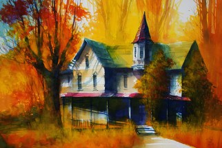 229_2016 Watercolor ´Indian Summer Shades´ / Arches rough – ca. 76 x 56 cm / 29.9 x 22.0 in / Lukas Aquarell 1862