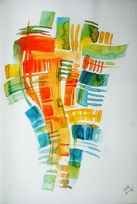CW2016_abstract_watercolor041 / Daler-Rowney Graduate Sketchbook, 21,0 x 29,7 cm / 8.3 x 11.7 in / Lukas Aquarell 1862