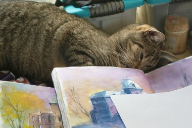 Watercolor painting can be so exhaustiing! :-)