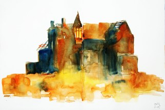 399_2016 Watercolor-Sketches /Daler-Rowney Graduate Sketchbook, 2x 21,0 x 14,9 cm / 8.3 x 5.8 in / Lukas Aquarell 1862