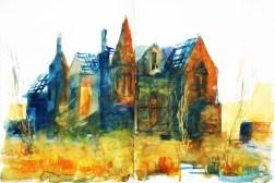 398_2016 Watercolor-Sketches /Daler-Rowney Graduate Sketchbook, 2x 21,0 x 14,9 cm / 8.3 x 5.8 in / Lukas Aquarell 1862