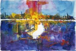 CW2016_abstract_watercolor050 / `Fire Garden II´ / Daler-Rowney Graduate Sketchbook, 2x 21,0 x 14,9 cm / 8.3 x 5.9 in / Lukas Aquarell 1862