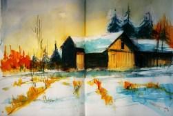 403_2016 Watercolor-Sketches /Daler-Rowney Graduate Sketchbook, 2x 21,0 x 29,7 cm / 8.3 x 11.7 in / Lukas Aquarell 1862