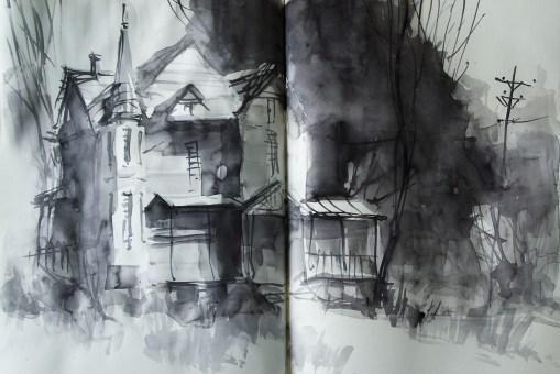 407_2016 Watercolor-Sketches /Daler-Rowney Graduate Sketchbook, 2x 21,0 x 29,7 cm / 8.3 x 11.7 in / Lukas Aquarell 1862