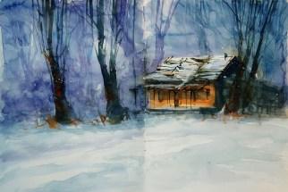 409_2016 Watercolor-Sketches /Daler-Rowney Graduate Sketchbook, 2x 21,0 x 14,9 cm / 8.3 x 5.8 in / Lukas Aquarell 1862