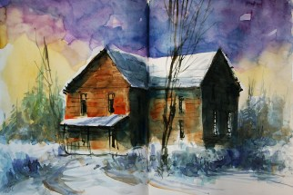 410_2016 Watercolor-Sketches /Daler-Rowney Graduate Sketchbook, 2x 21,0 x 14,9 cm / 8.3 x 5.8 in / Lukas Aquarell 1862