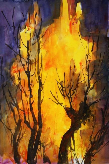 411_2016 Watercolor-Sketches /Daler-Rowney Graduate Sketchbook, 21,0 x 14,9 cm / 8.3 x 5.8 in / Lukas Aquarell 1862