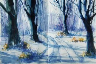 414_2016 Watercolor-Sketches /Daler-Rowney Graduate Sketchbook, 2x 21,0 x 14,9 cm / 8.3 x 5.8 in / Lukas Aquarell 1862
