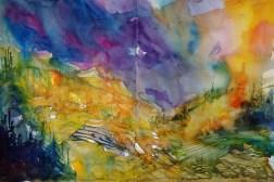 416_2016 Watercolor-Sketches /Daler-Rowney Graduate Sketchbook, 2x 21,0 x 14,9 cm / 8.3 x 5.8 in / Lukas Aquarell 1862