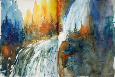 422_2016 Watercolor-Sketches /Daler-Rowney Graduate Sketchbook, 2x 21,0 x 14,9 cm / 8.3 x 5.8 in / Lukas Aquarell 1862