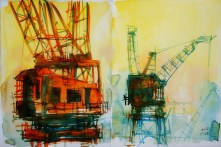 432_2016 Watercolor-Sketches /Daler-Rowney Graduate Sketchbook, 2x 21,0 x 14,9 cm / 8.3 x 5.8 in / Lukas Aquarell 1862