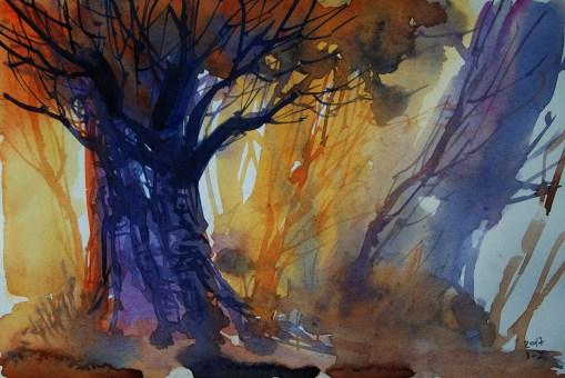 000_2017 Watercolor / Marabu Mixed Media 21,0 x 14,8 cm / 8.3 x 5.8 in / Lukas Aquarell 1862