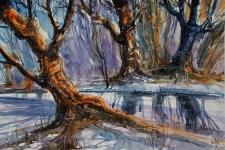 010_2017 Watercolor / Folia – ca. 42,2 x 29,4 cm/ Lukas Aquarell 1862