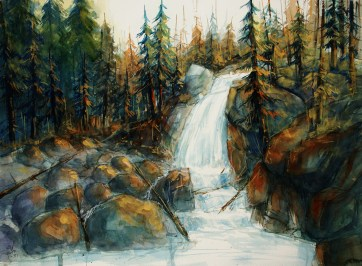 043_2016 Watercolor / Fabriano artistico rough – ca. 76 x 56 cm / 29.9 x 22.0 in / Lukas Aquarell 1862