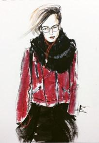jacket fashion (red jacket)
