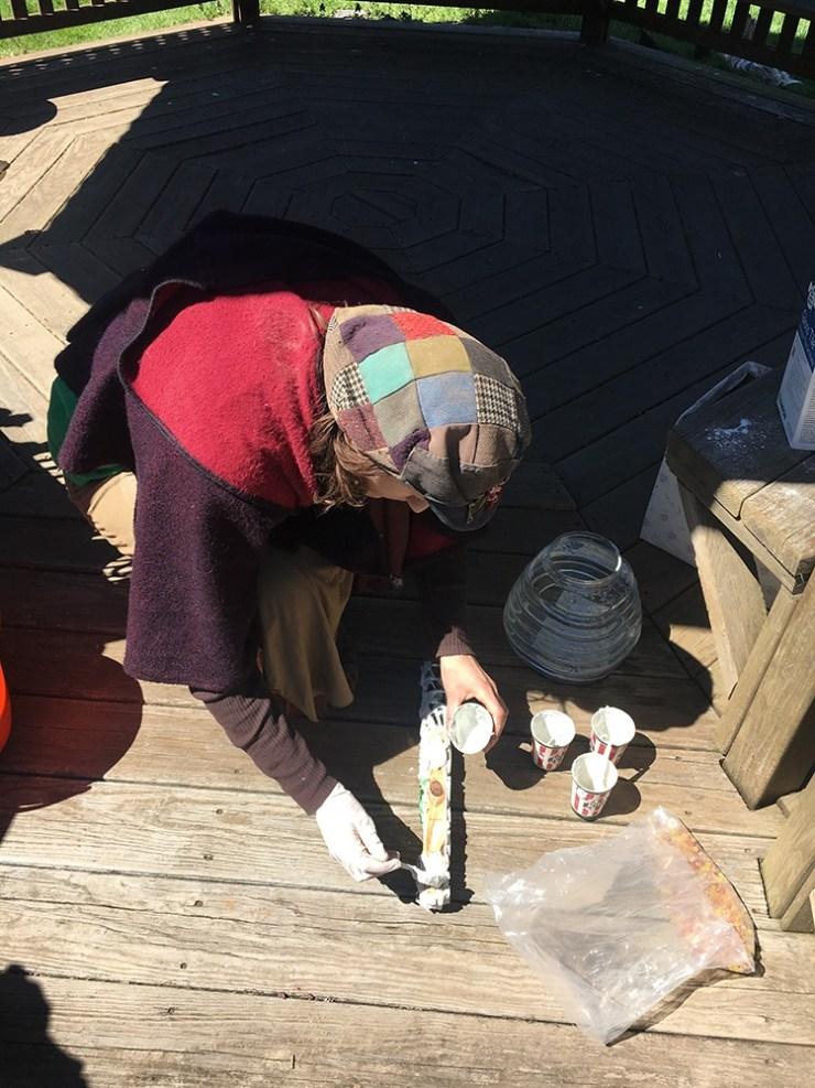 Mosaic making at Norristown Community Garden