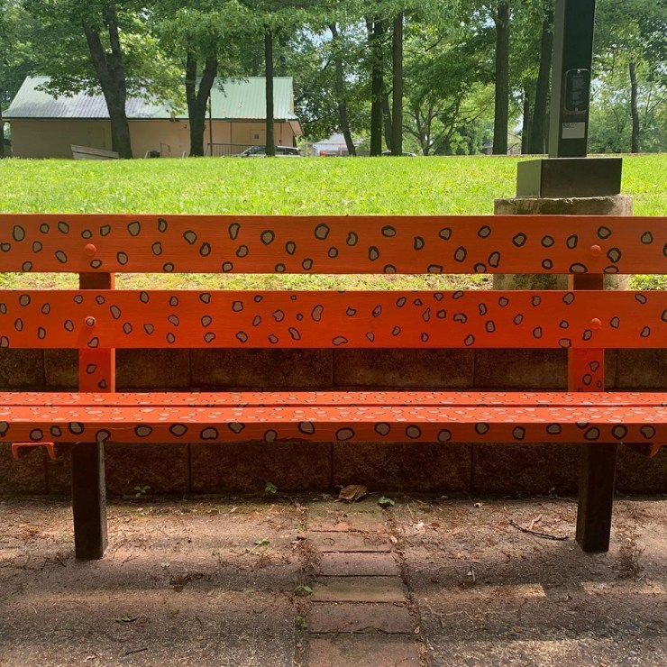 A bench for animal lovers
