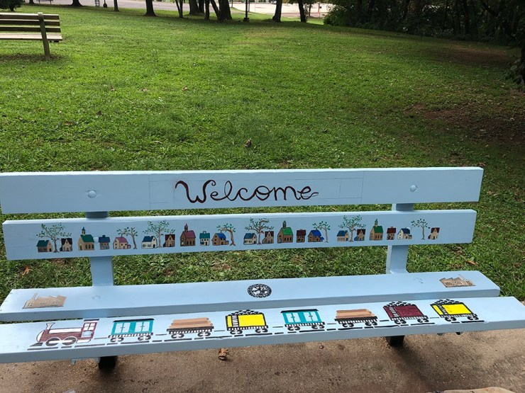 A bench that welcomes all park residents