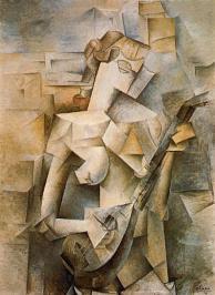 """""""Girl with mandolin (Fanny Tellier)"""" 1910, MOMA, NY"""