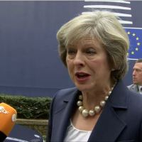 European Council, arrival and declaration of Theresa MAY, UK Prime Minister
