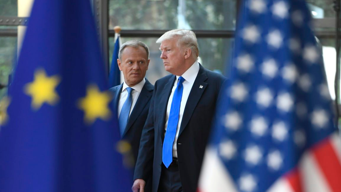 Donald Tusk welcomes Donald Trump