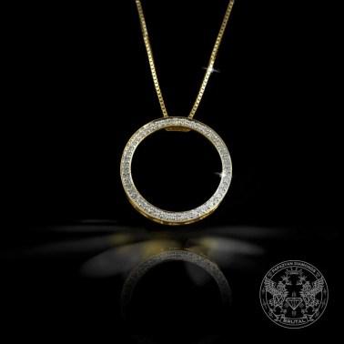 Златен медальон във форма на окръжност