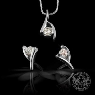 Комплект златни бижута с диаманти
